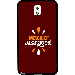 Snooky Printed Mischief Mobile Back Cover For Samsung Galaxy Note 3 - Brown