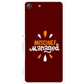 Snooky Printed Mischief Mobile Back Cover For Sony Xperia M5 - Brown