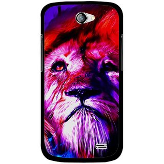 Snooky Printed Freaky Lion Mobile Back Cover For Gionee Pioneer P2 - Multi