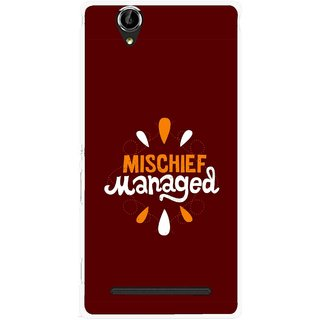 Snooky Printed Mischief Mobile Back Cover For Sony Xperia T2 Ultra - Brown