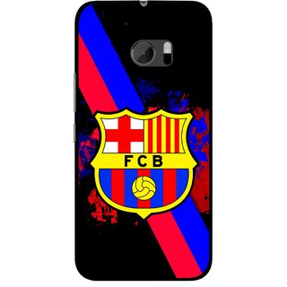 Snooky Printed Football Club Mobile Back Cover For HTC One M10 - Black
