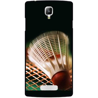 Snooky Printed Badminton Mobile Back Cover For Oppo Neo 3 R831k - Multicolour