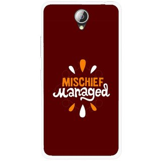 Snooky Printed Mischief Mobile Back Cover For Lenovo A5000 - Brown