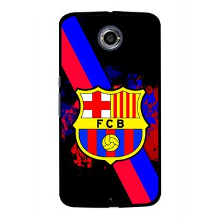 Snooky Printed Football Club Mobile Back Cover For Motorola Nexus 6 - Black