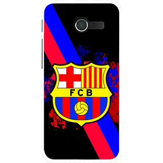Snooky Printed Football Club Mobile Back Cover For Asus Zenfone 4 - Black