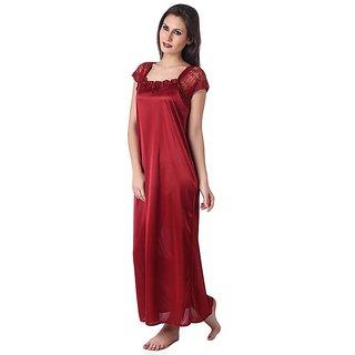 Rosa Satin Nighty .Baby Doll Gown,Night wear