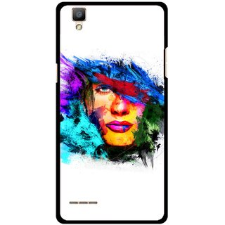 Snooky Printed Dashing Girl Mobile Back Cover For Oppo F1 - Multi