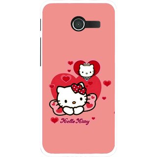Snooky Printed Pinky Kitty Mobile Back Cover For Asus Zenfone 4 - Pink