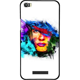 Snooky Printed Dashing Girl Mobile Back Cover For Lava Iris X8 - Multi