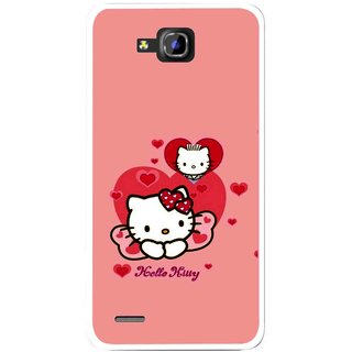 Snooky Printed Pinky Kitty Mobile Back Cover For Huawei Honor 3C - Pink