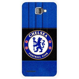 Snooky Printed FootBall Club Mobile Back Cover For Micromax Canvas Mad A94 - Multicolour