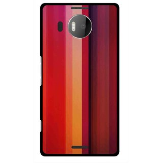 Snooky Printed Colorfull Stripes Mobile Back Cover For Microsoft Lumia 950 XL - Multi