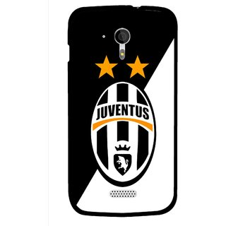 Snooky Printed Football Club Mobile Back Cover For Micromax A116 - Black
