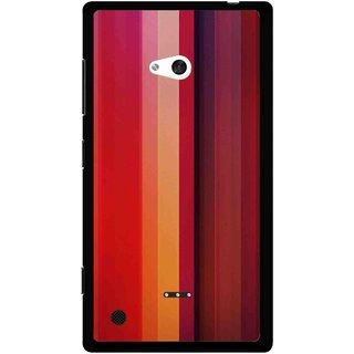 Snooky Printed Colorfull Stripes Mobile Back Cover For Nokia Lumia 720 - Multi