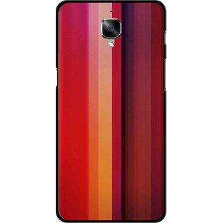 Snooky Printed Colorfull Stripes Mobile Back Cover For OnePlus 3 - Multi