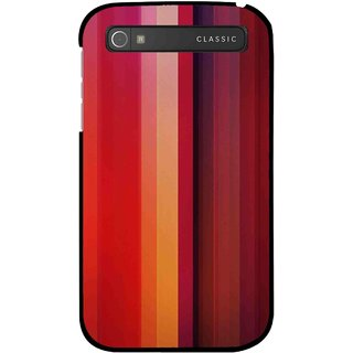 Snooky Printed Colorfull Stripes Mobile Back Cover For Blackberry Classic - Multi