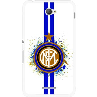 Snooky Printed Sports Lovers Mobile Back Cover For Sony Xperia E4 - White