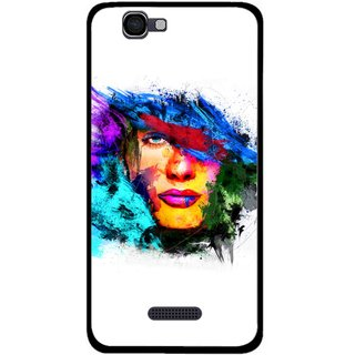 Snooky Printed Dashing Girl Mobile Back Cover For Micromax Canvas 2 A120 - Multi