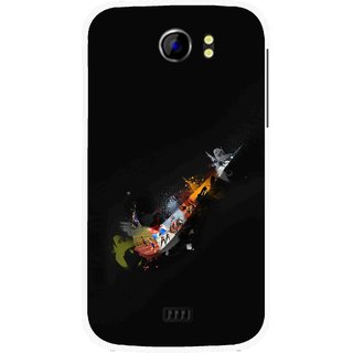 Snooky Printed All is Right Mobile Back Cover For Micromax Canvas 2 A110 - Multicolour