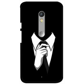 Snooky Printed White Collar Mobile Back Cover For Motorola Moto X Play - Multi