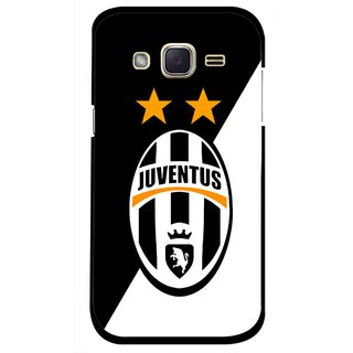 Snooky Printed Football Club Mobile Back Cover For Samsung Galaxy j2 - Black