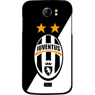 Snooky Printed Football Club Mobile Back Cover For Micromax Canvas 2 A110 - Black