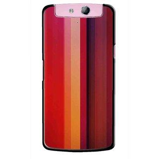 Snooky Printed Colorfull Stripes Mobile Back Cover For Oppo N1 Mini - Multi