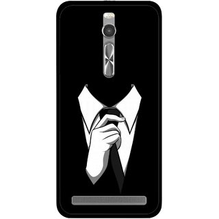 Snooky Printed White Collar Mobile Back Cover For Asus Zenfone 2 - Multi