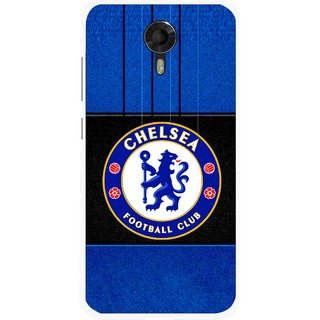 Snooky Printed FootBall Club Mobile Back Cover For Micromax Canvas Xpress 2 E313 - Multicolour