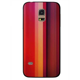 Snooky Printed Colorfull Stripes Mobile Back Cover For Samsung Galaxy S5 Mini - Multi