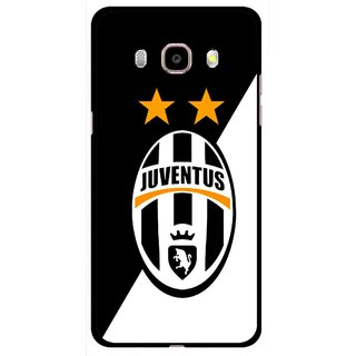Snooky Printed Football Club Mobile Back Cover For Samsung Galaxy J5 (2017) - Black