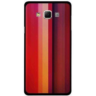 Snooky Printed Colorfull Stripes Mobile Back Cover For Samsung Galaxy E5 - Multi