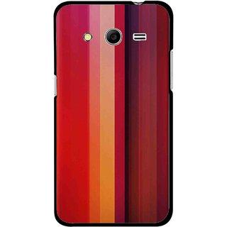 Snooky Printed Colorfull Stripes Mobile Back Cover For Samsung Galaxy G355 - Multi