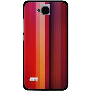 Snooky Printed Colorfull Stripes Mobile Back Cover For Huawei Honor Holly - Multi