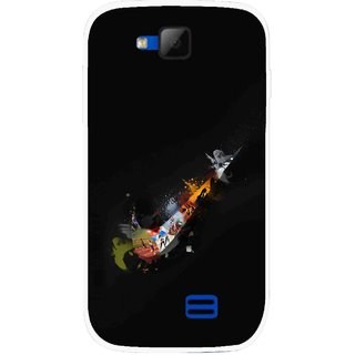 Snooky Printed All is Right Mobile Back Cover For Micromax Canvas Fun A63 - Multicolour