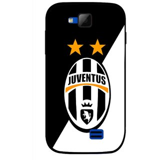 Snooky Printed Football Club Mobile Back Cover For Micromax Canvas Fun A63 - Black