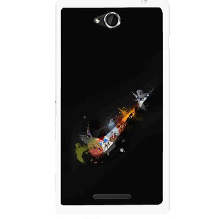 Snooky Printed All is Right Mobile Back Cover For Sony Xperia C - Multicolour