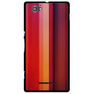 Snooky Printed Colorfull Stripes Mobile Back Cover For Sony Xperia M - Multi