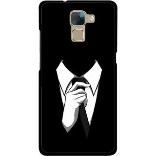Snooky Printed White Collar Mobile Back Cover For Huawei Honor 7 - Multi