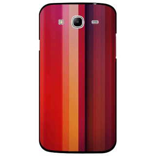Snooky Printed Colorfull Stripes Mobile Back Cover For Samsung Galaxy Mega 5.8 - Multi