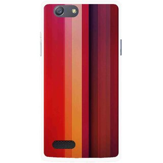 Snooky Printed Colorfull Stripes Mobile Back Cover For Oppo Neo 7 - Multi