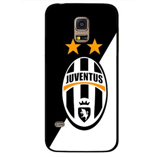 Snooky Printed Football Club Mobile Back Cover For Samsung Galaxy S5 Mini - Black