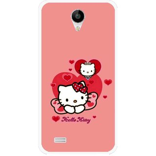 Snooky Printed Pinky Kitty Mobile Back Cover For Vivo Y22 - Pink