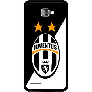 Snooky Printed Football Club Mobile Back Cover For Micromax Canvas Mad A94 - Black