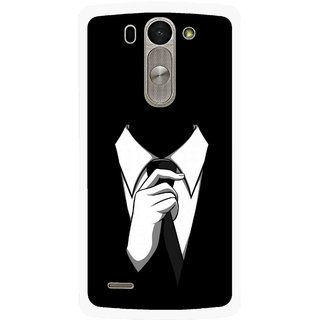 Snooky Printed White Collar Mobile Back Cover For Lg G3 Beat D722k - Multi