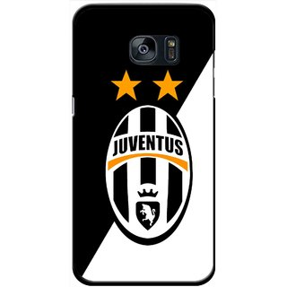 Snooky Printed Football Club Mobile Back Cover For Samsung Galaxy S7 - Black