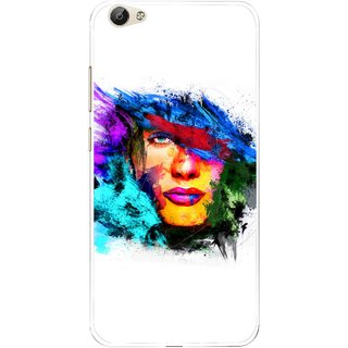 Snooky Printed Dashing Girl Mobile Back Cover For Vivo Y55 - Multi