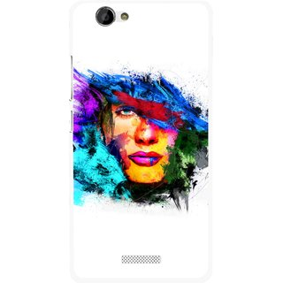 Snooky Printed Dashing Girl Mobile Back Cover For Gionee M2 - Multi