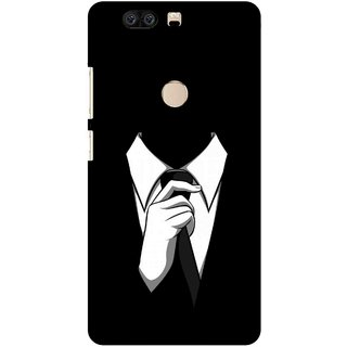 Snooky Printed White Collar Mobile Back Cover For Huawei Honor 8 - Multi