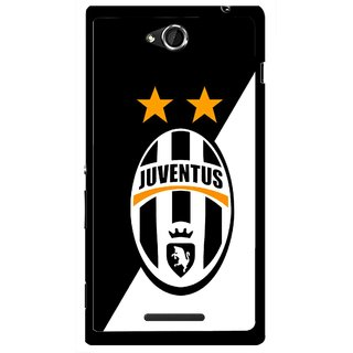 Snooky Printed Football Club Mobile Back Cover For Sony Xperia C - Black